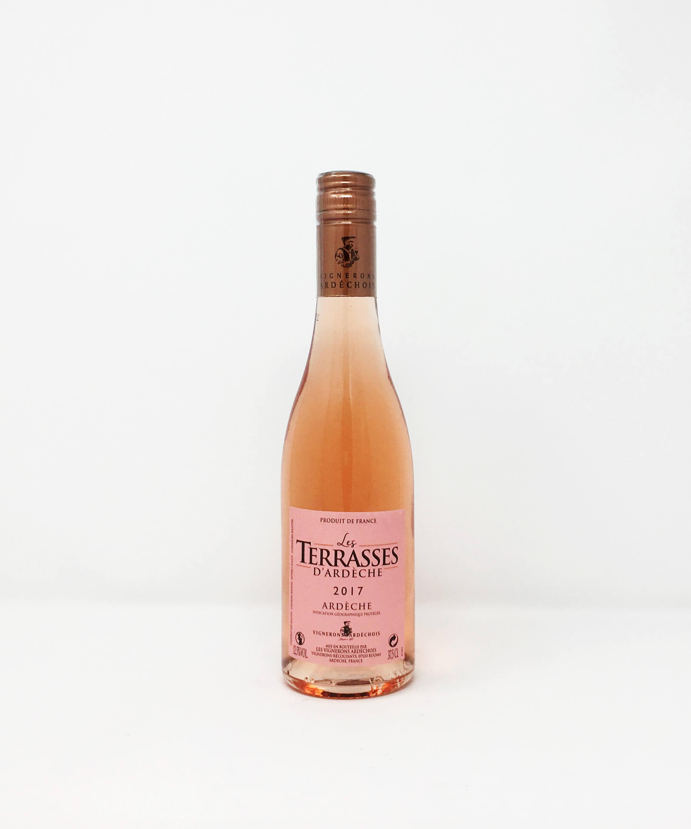 Les Terrasses D'Ardeche Rose HALF BOTTLE